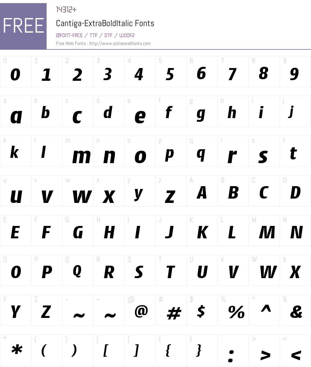 Cantiga ExtraBold Font Screenshots