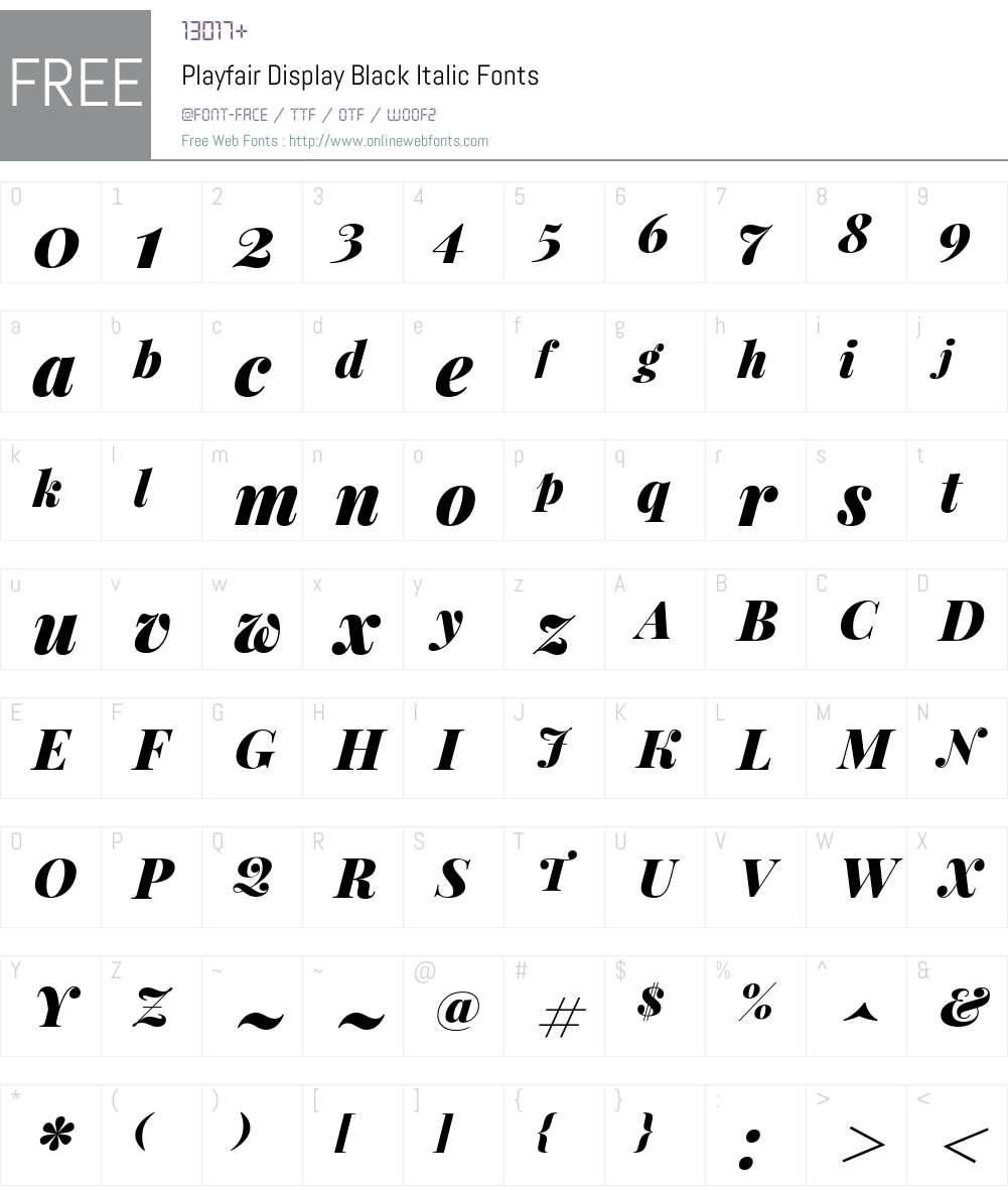 Playfair Display Black Font Screenshots