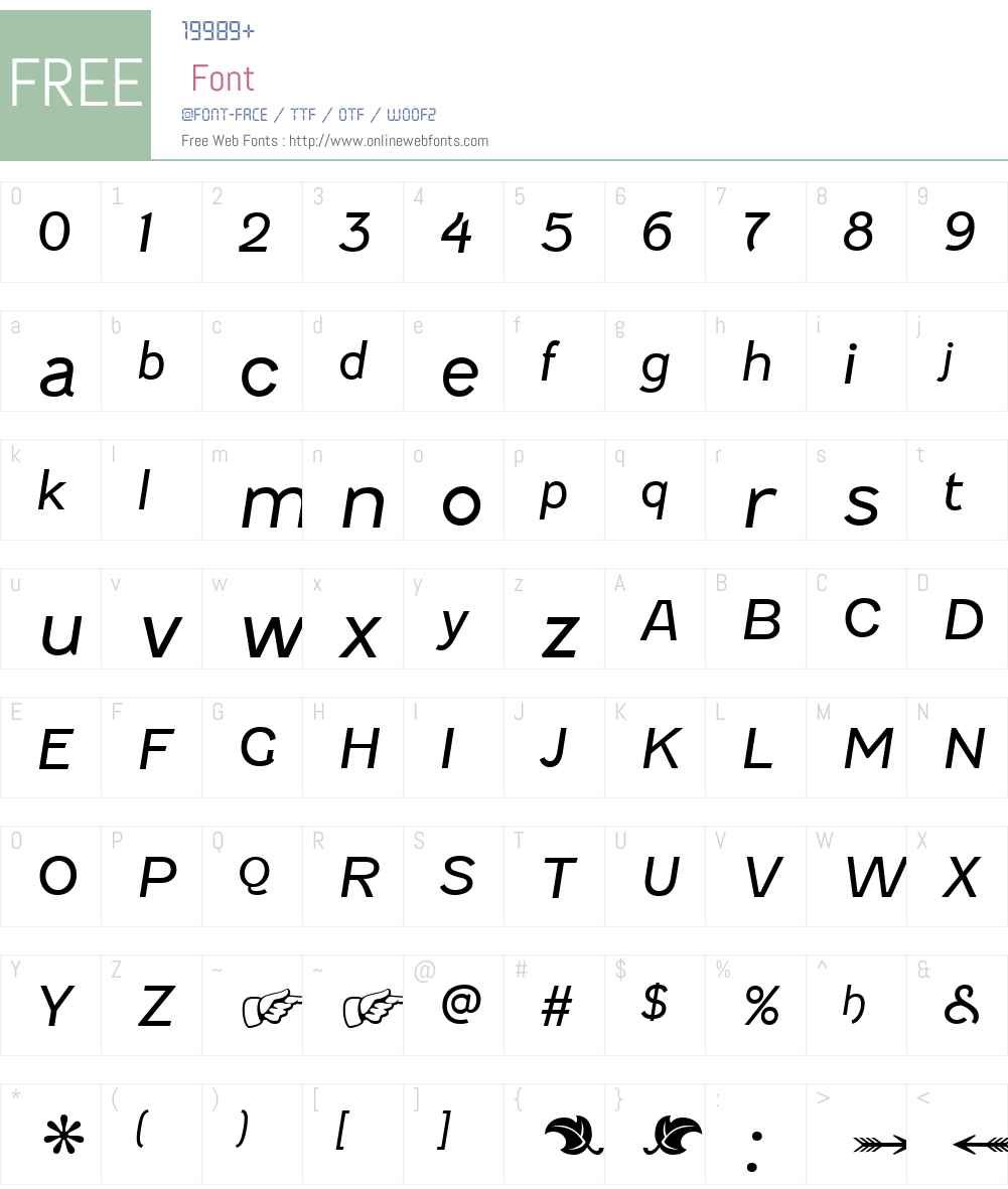 Fenwick Light Font Screenshots