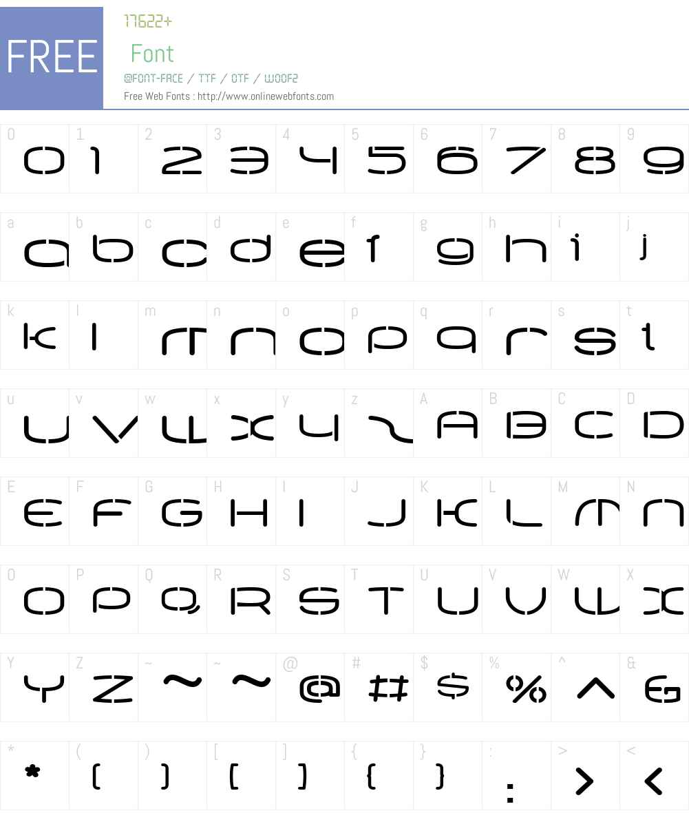 PPEqualiserW01-StencilBold Font Screenshots