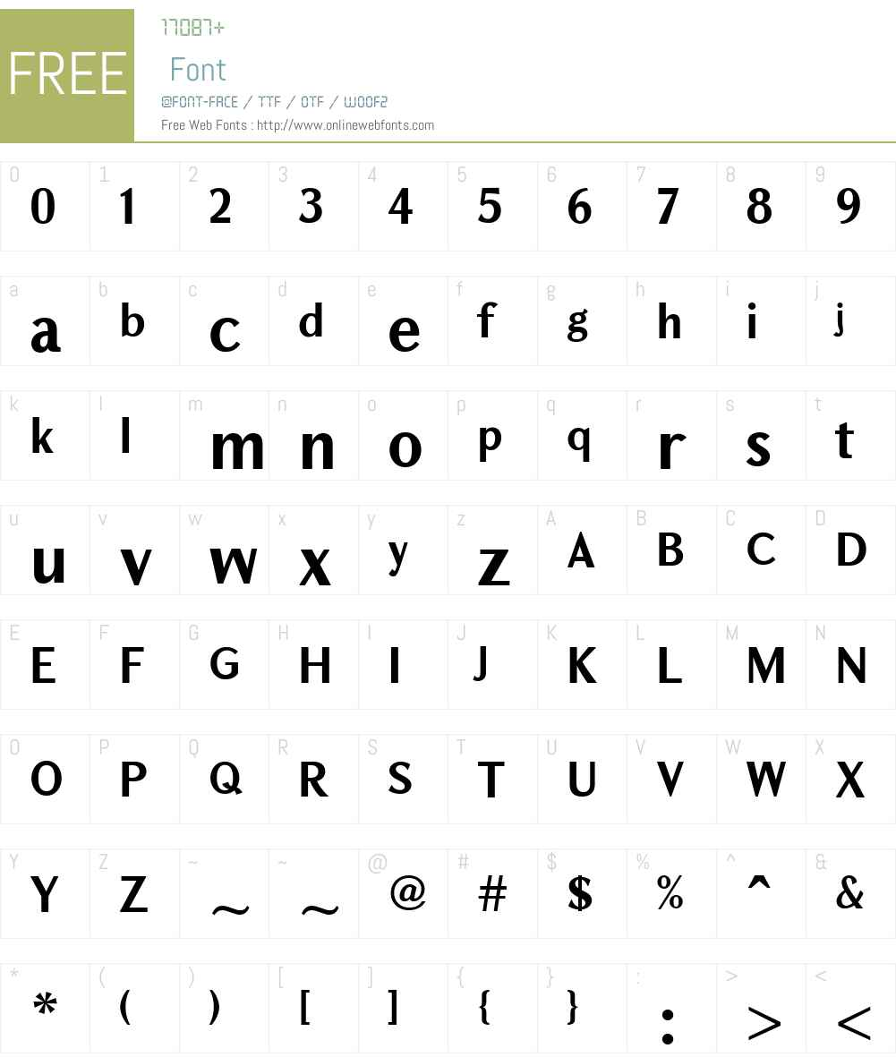GHEATigranW10-Bold Font Screenshots