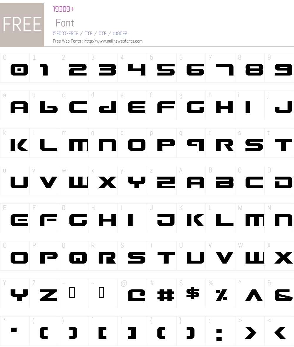 Gunship Font Screenshots