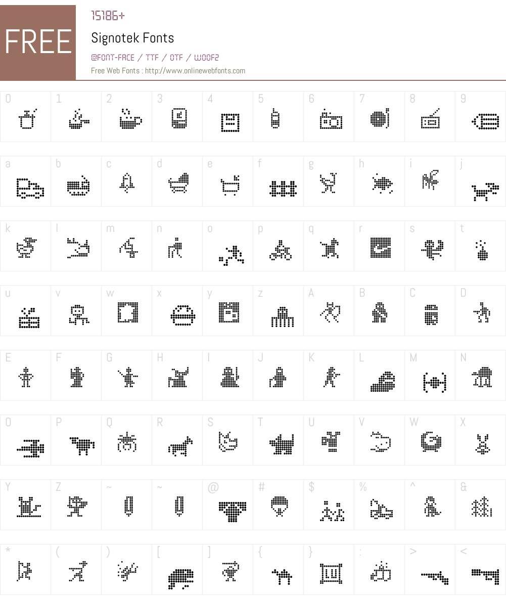 Signotek Font Screenshots