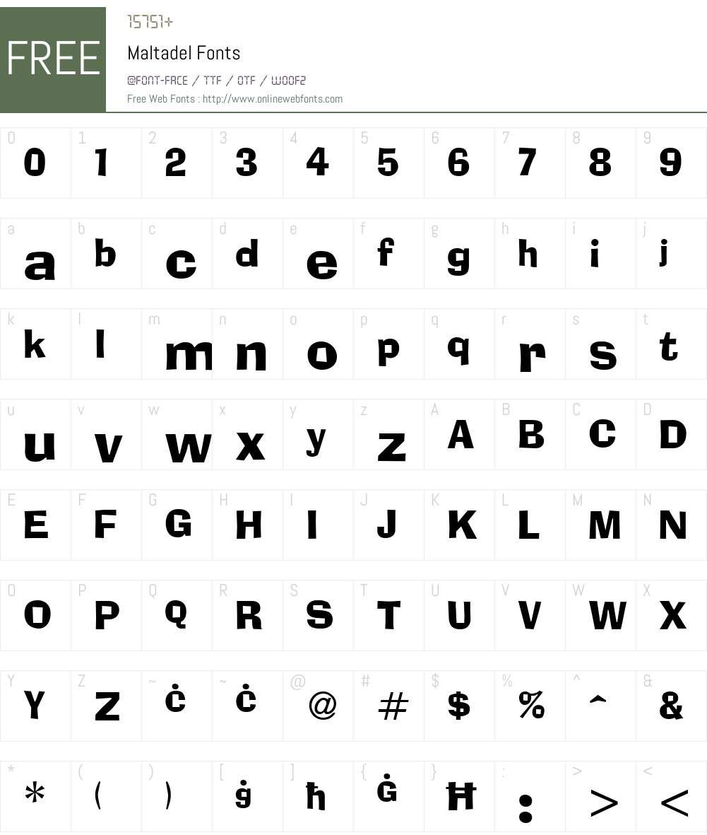 Maltadel Font Screenshots