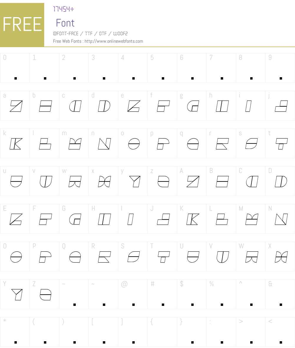 Drebiek Font Screenshots