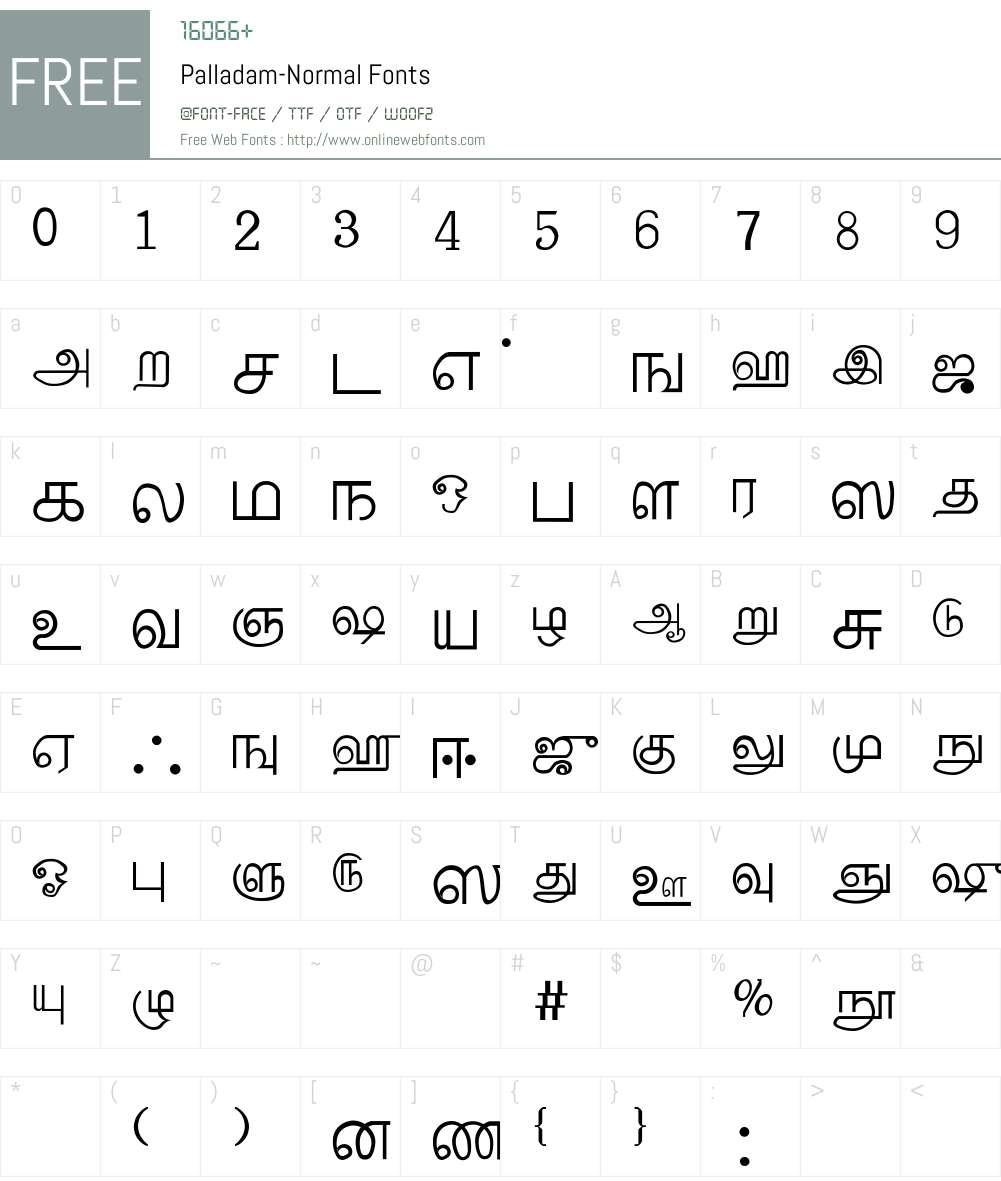 Palladam-Normal Font Screenshots