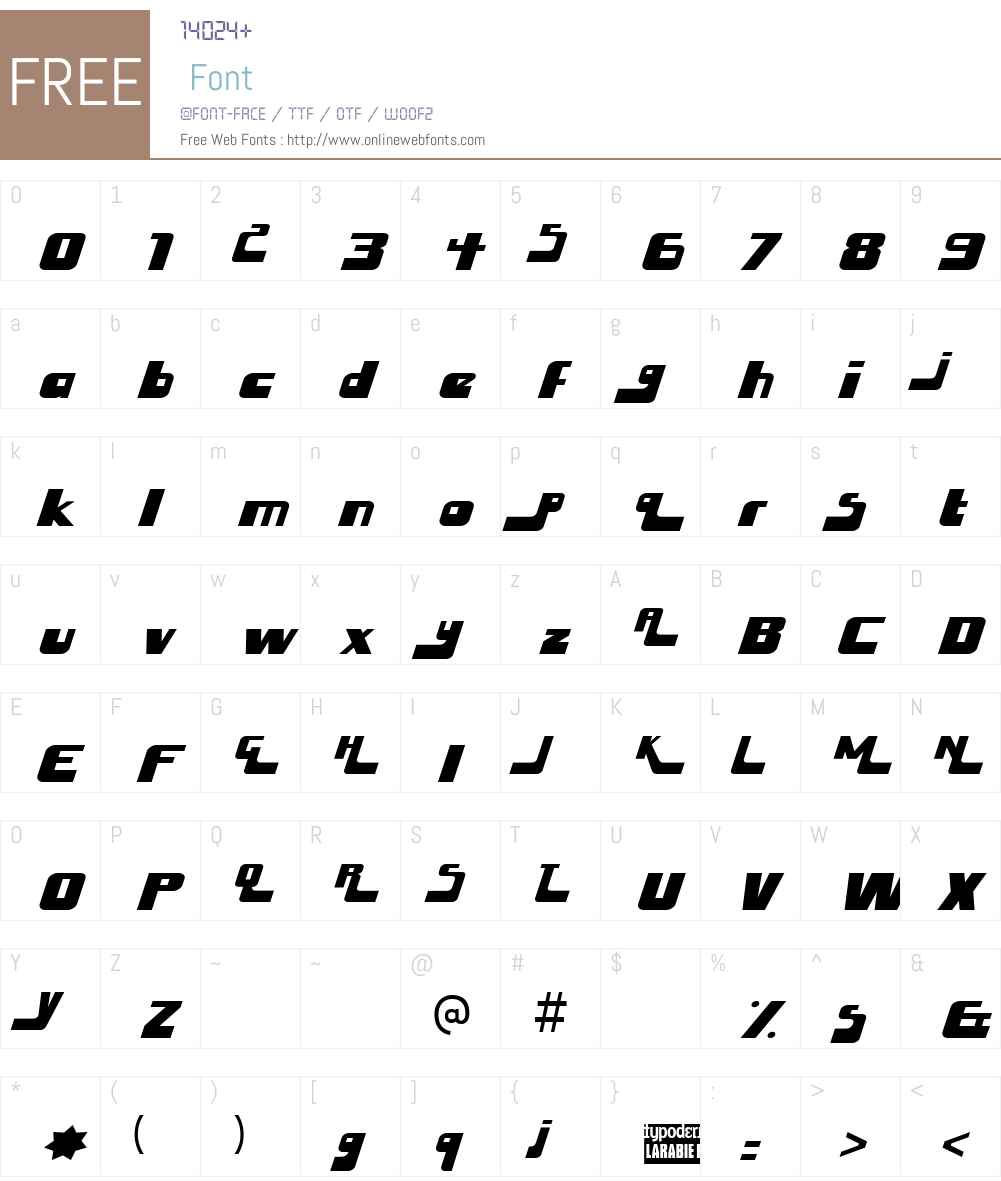 Husky Stash Font Screenshots