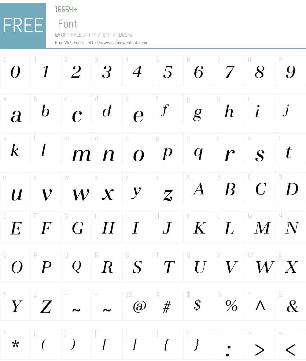 Basilia Font Screenshots