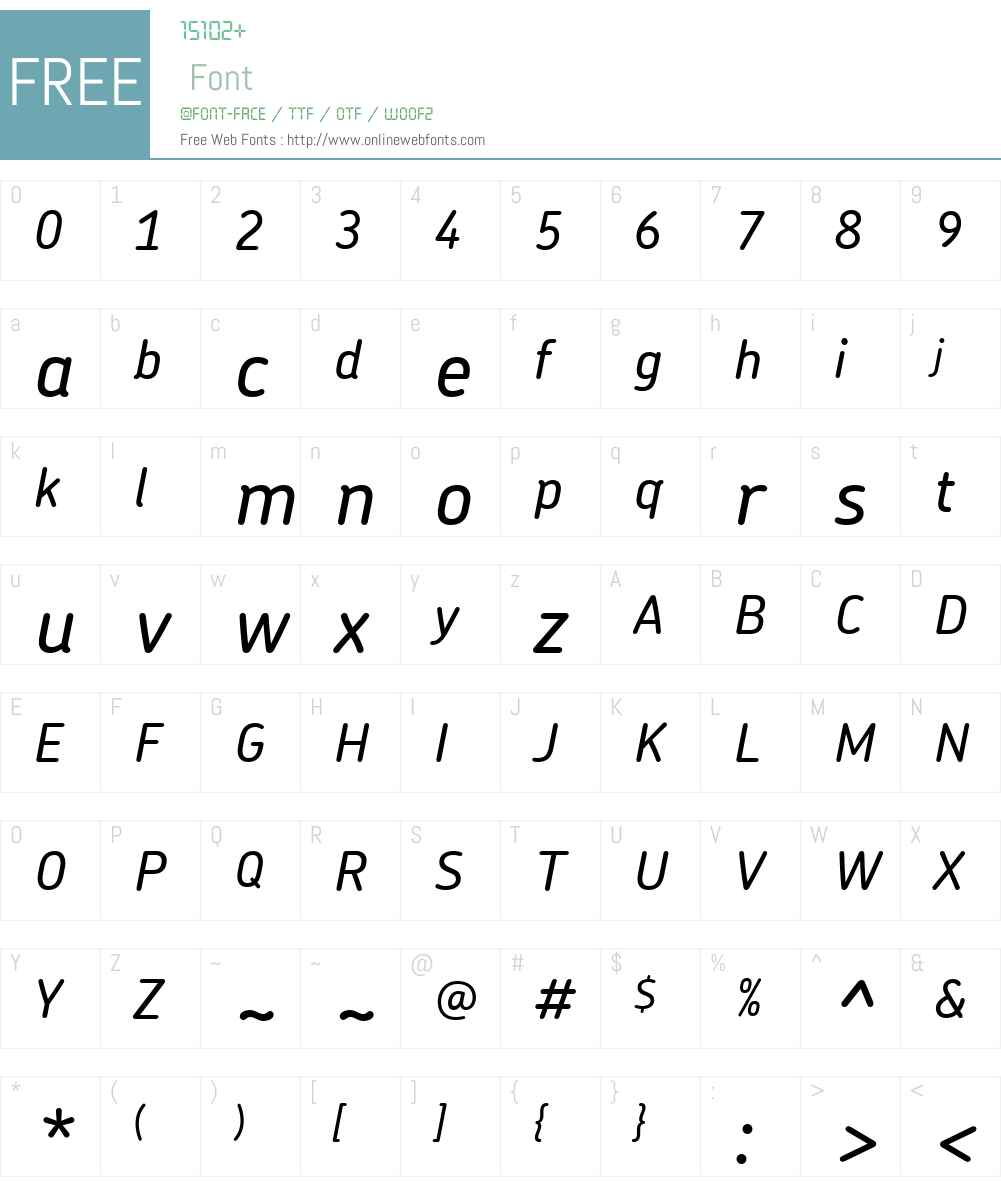 Chevin Font Screenshots
