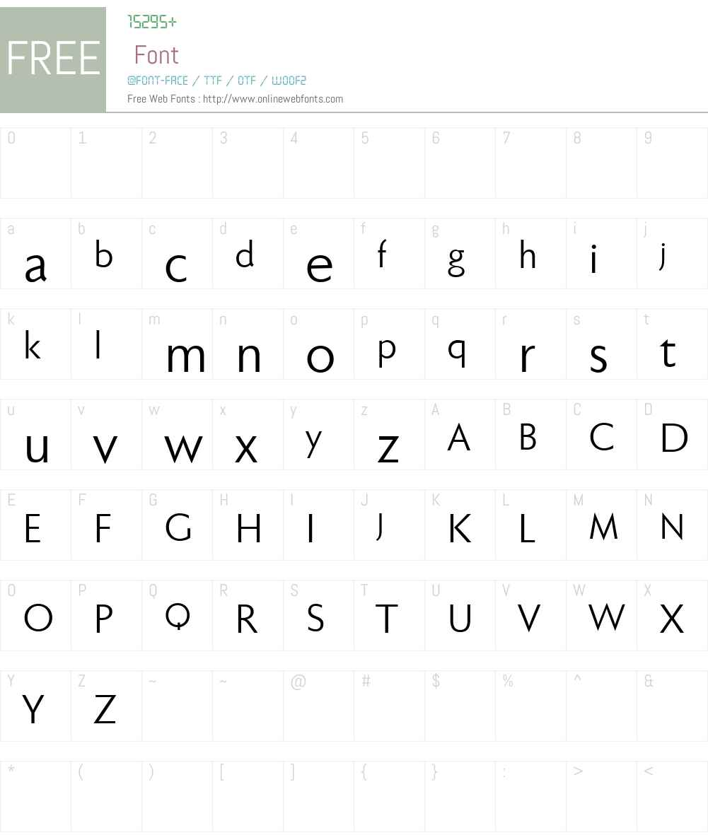 Faber Sans Pro reduced Font Screenshots
