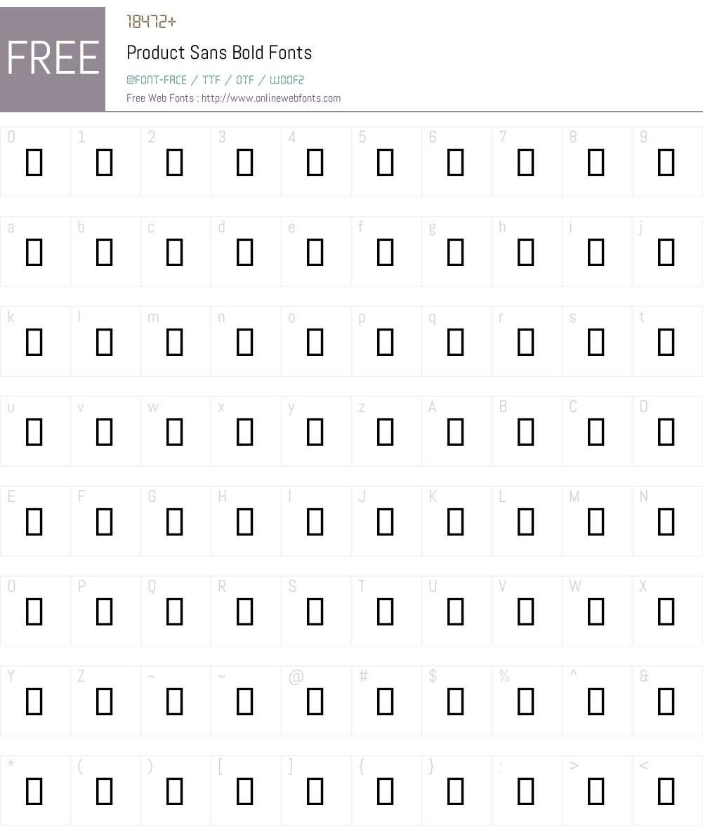 Product Sans Font Screenshots