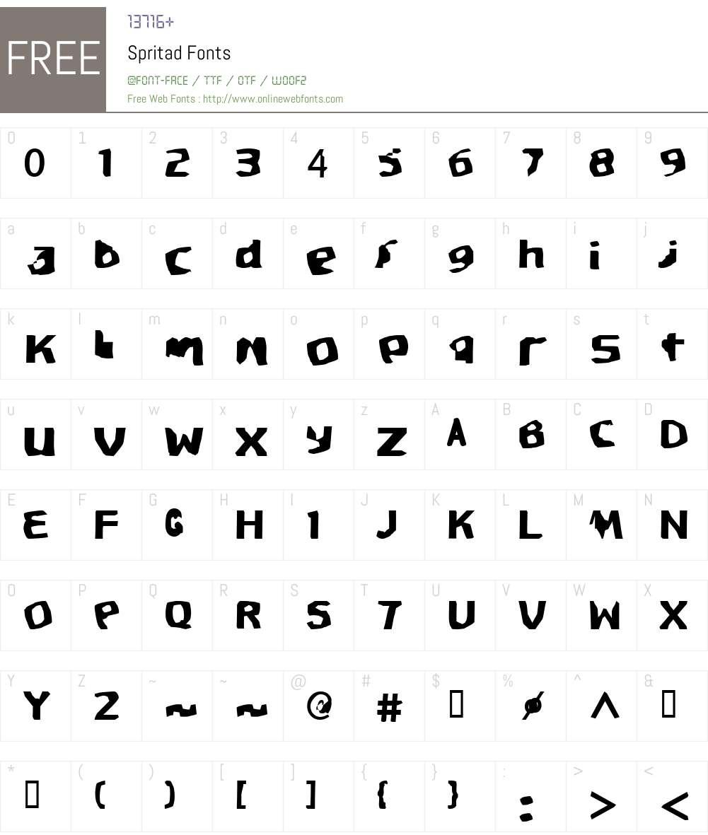 Spritad Font Screenshots