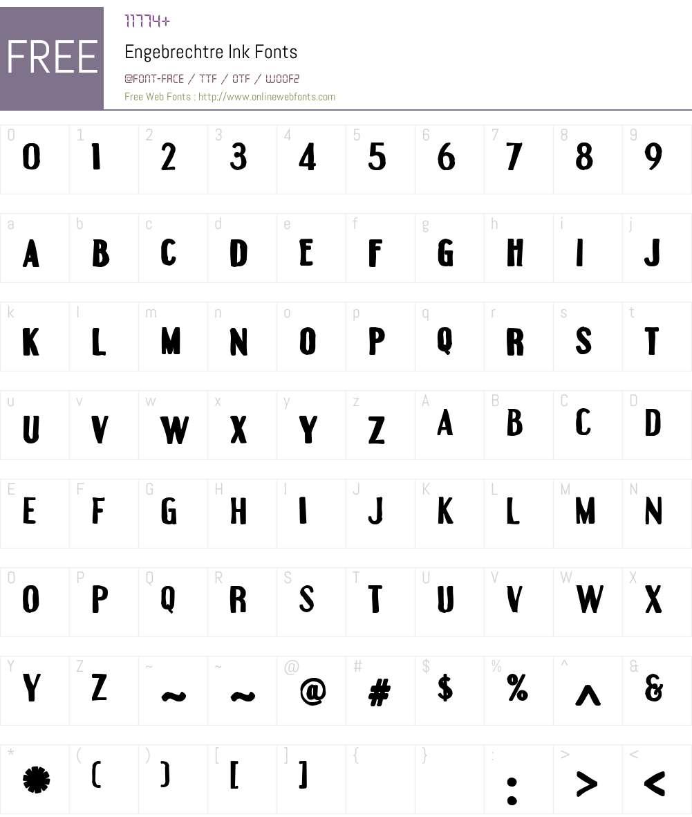 Engebrechtre Ink Font Screenshots