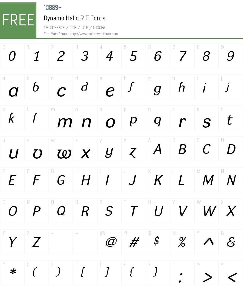 Dynamo RE Font Screenshots