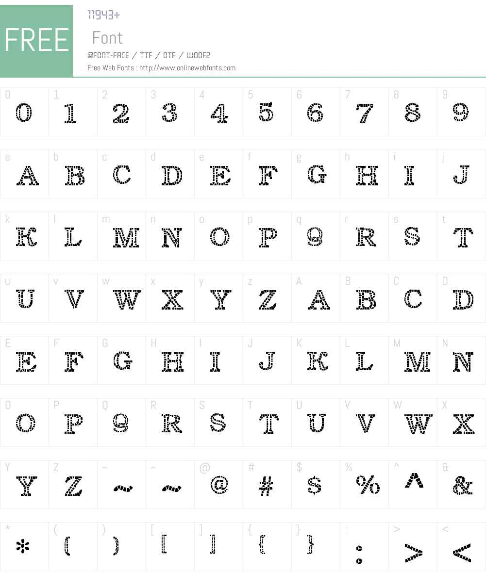 Classic Mosaic Font Screenshots