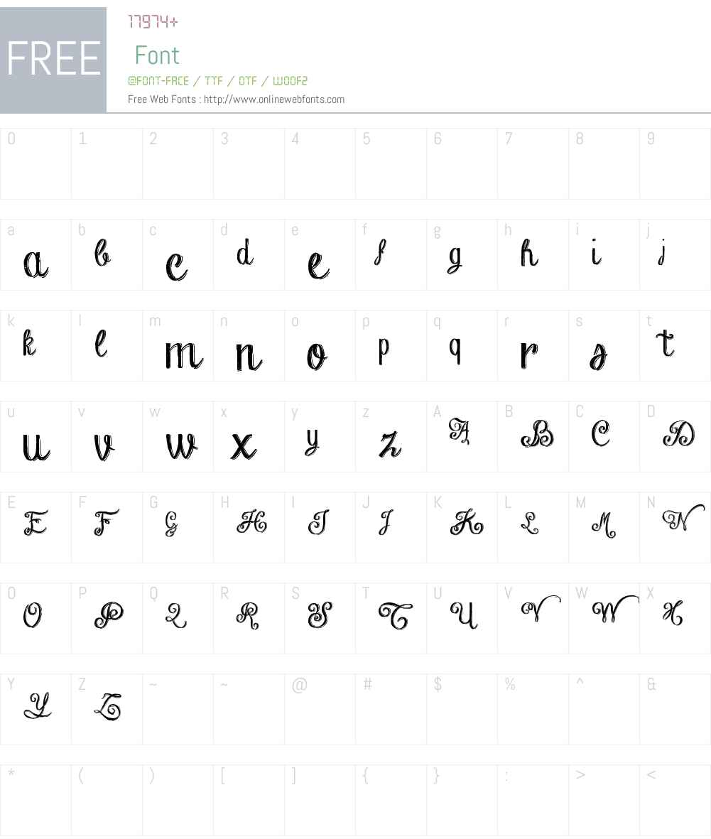Chalk-hand-lettering-shaded_dem Font Screenshots