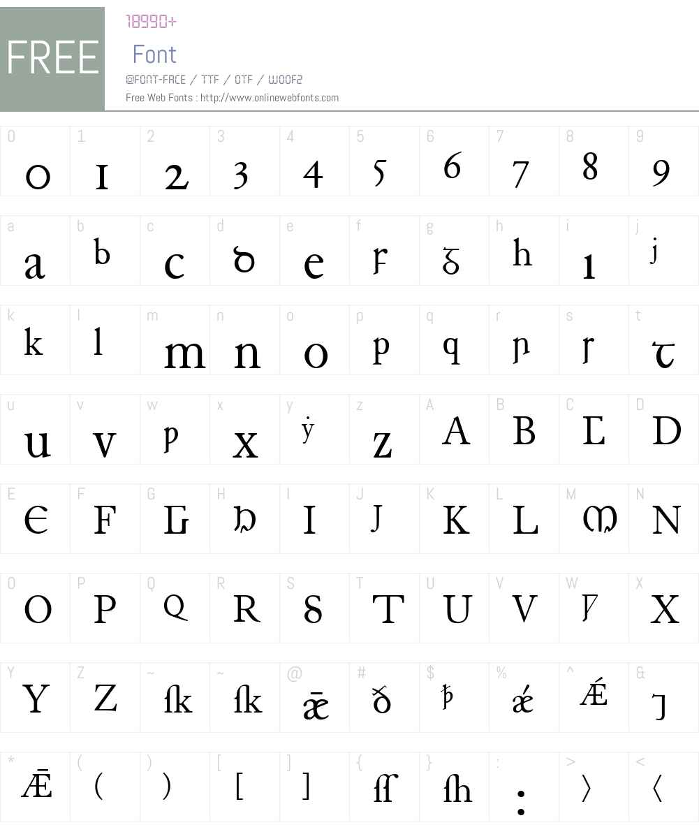 Junius Font Screenshots