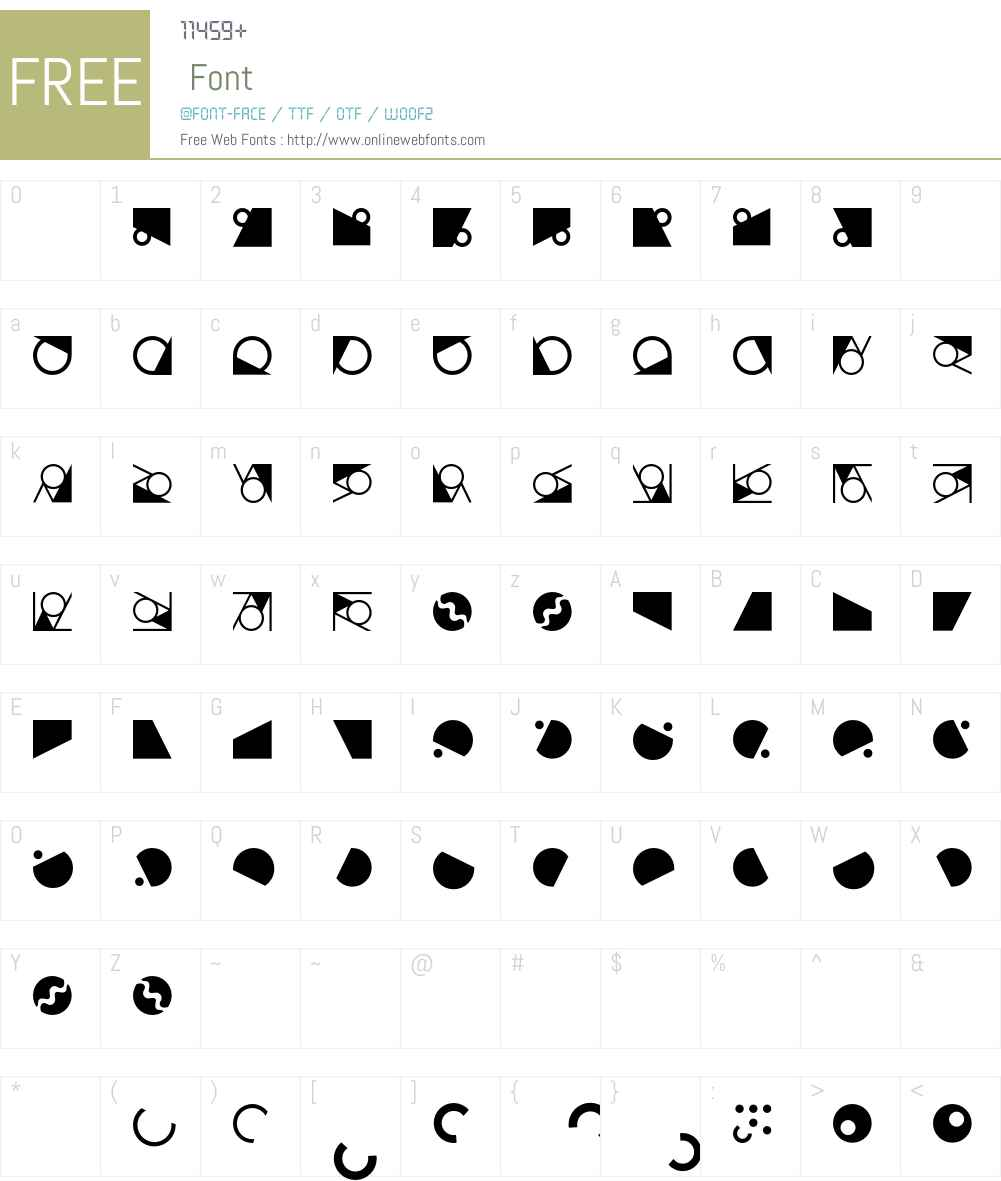 OrnamentsTown Font Screenshots