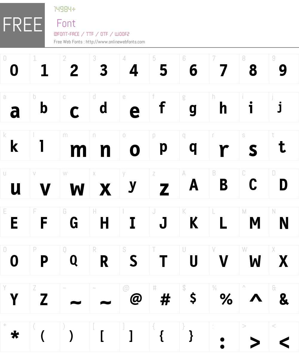 FF Letter Gothic Text Font Screenshots