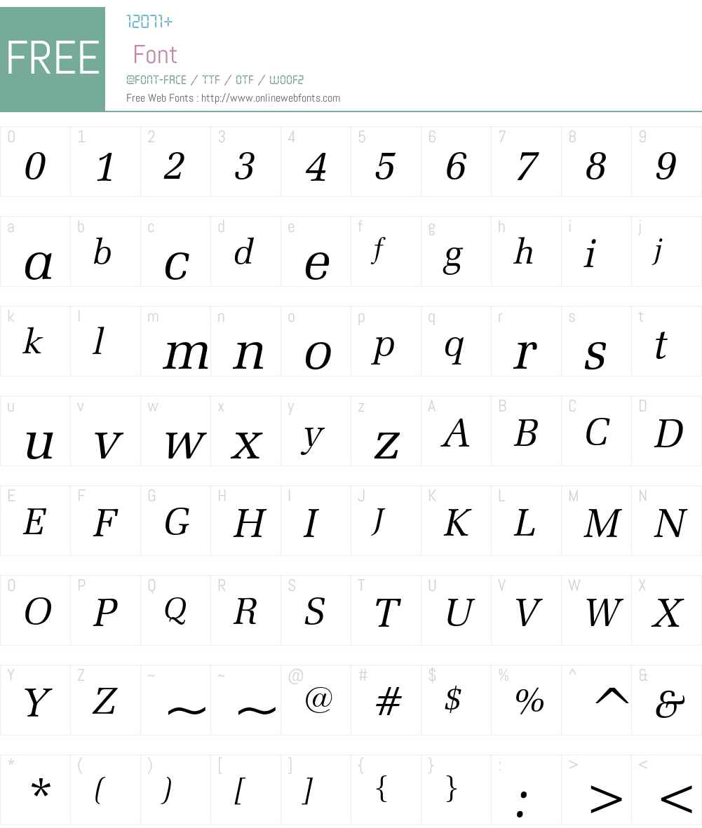 Zapf Elliptical 711 Font Screenshots