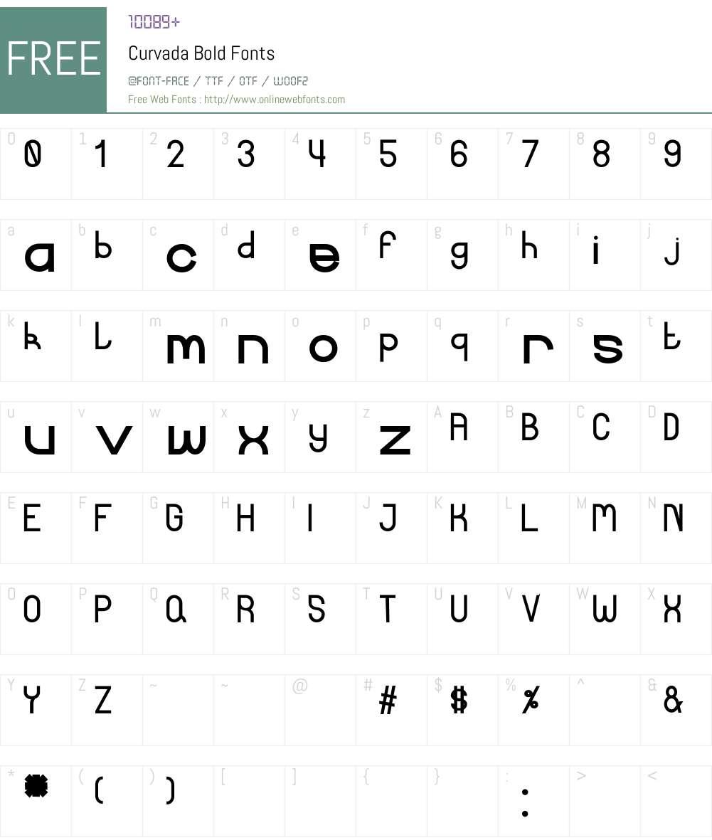 Curvada Font Screenshots