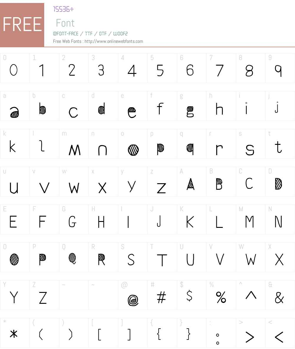 Scrambles Font Screenshots