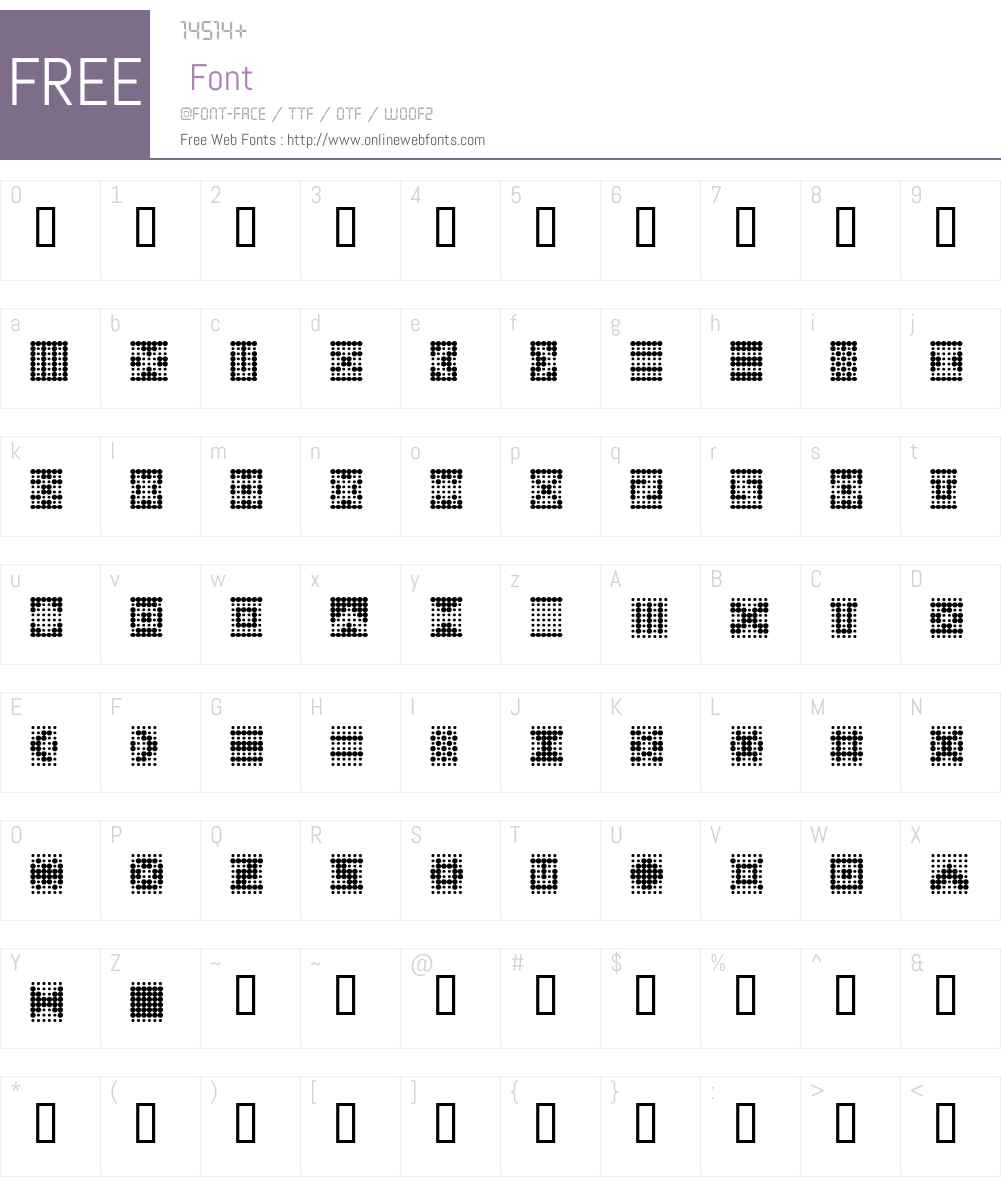Peppered BTN Ornaments Font Screenshots