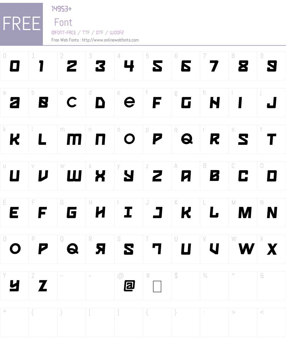 Spaceport One Font Screenshots