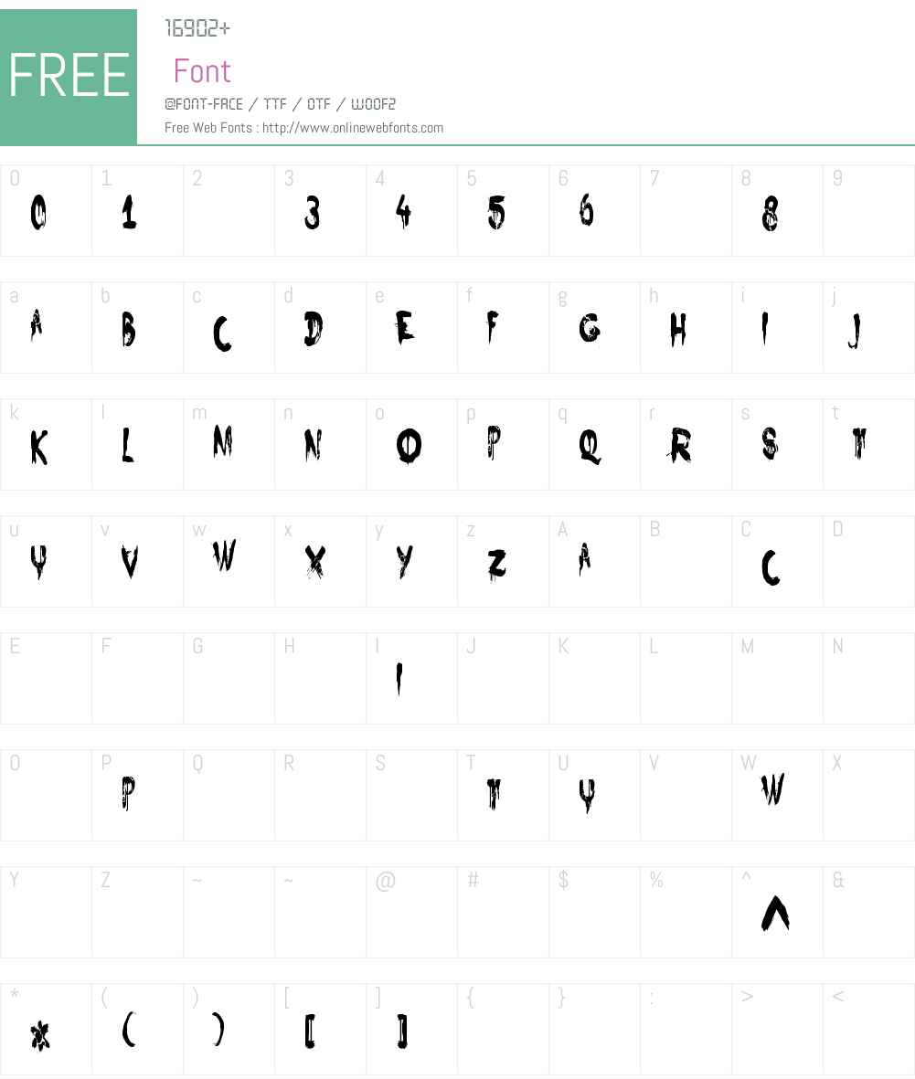 NightbirdCondensed Font Screenshots