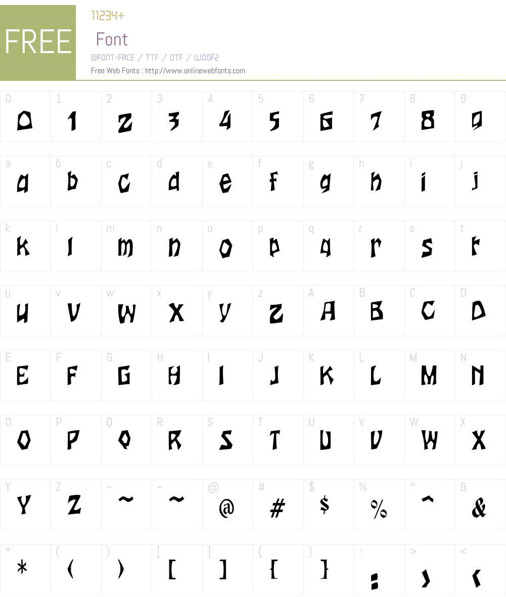 WoodcutCondensed Font Screenshots
