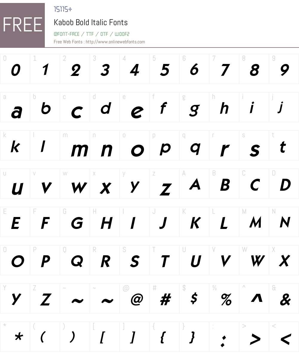 Kabob Font Screenshots