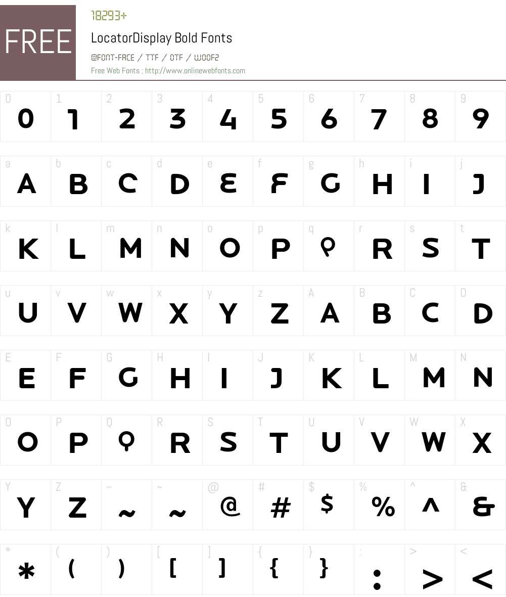 LocatorDisplay Bold Font Screenshots