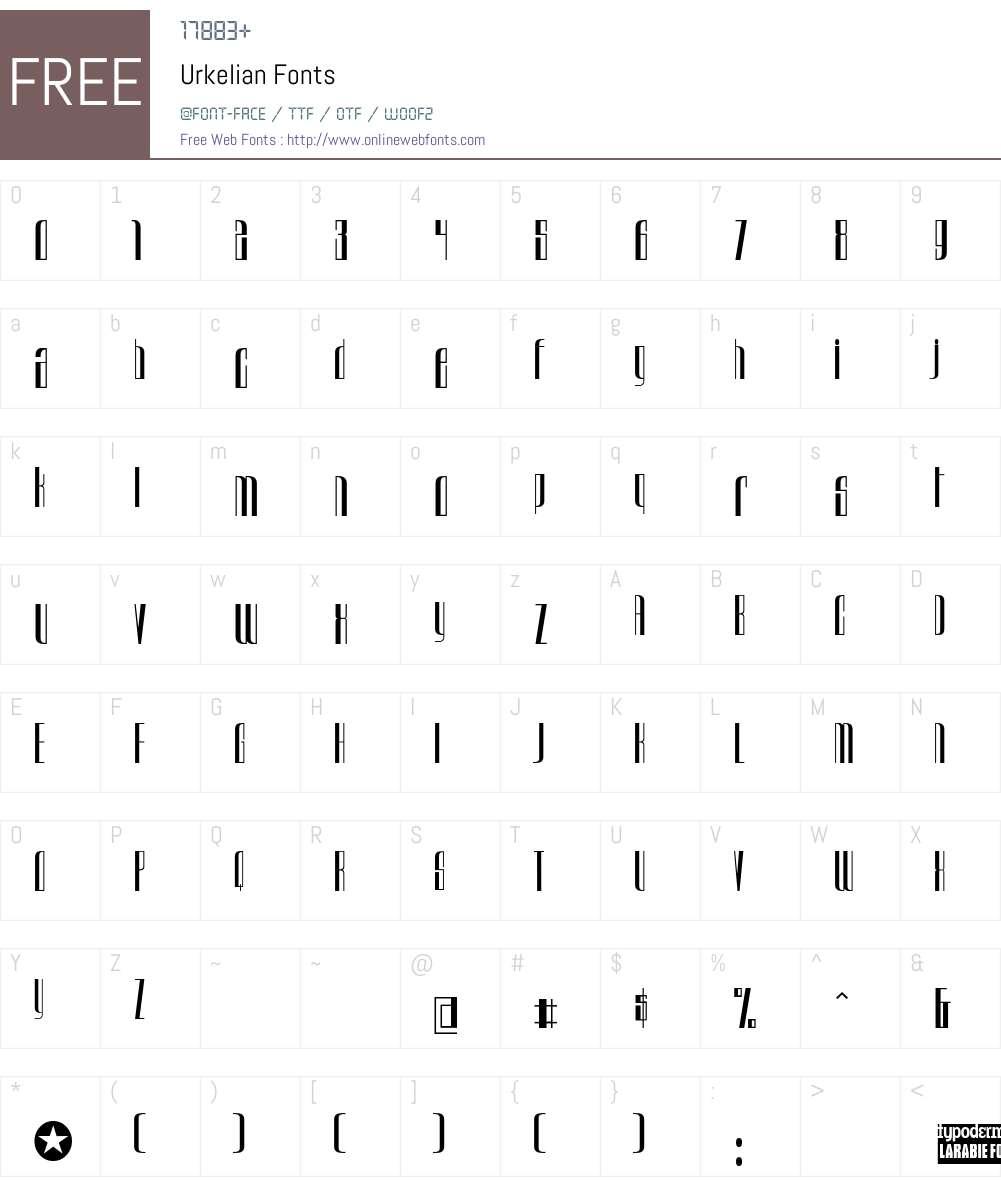 Urkelian Font Screenshots