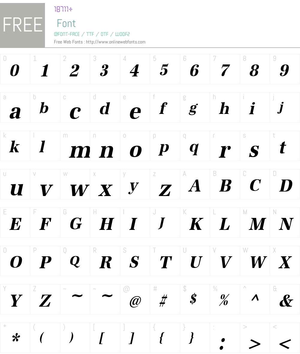 URWAntiquaTExtNar Font Screenshots