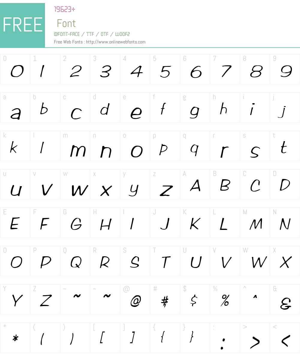MarloCondensed Font Screenshots