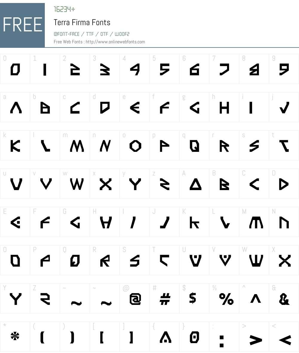 Terra Firma Font Screenshots