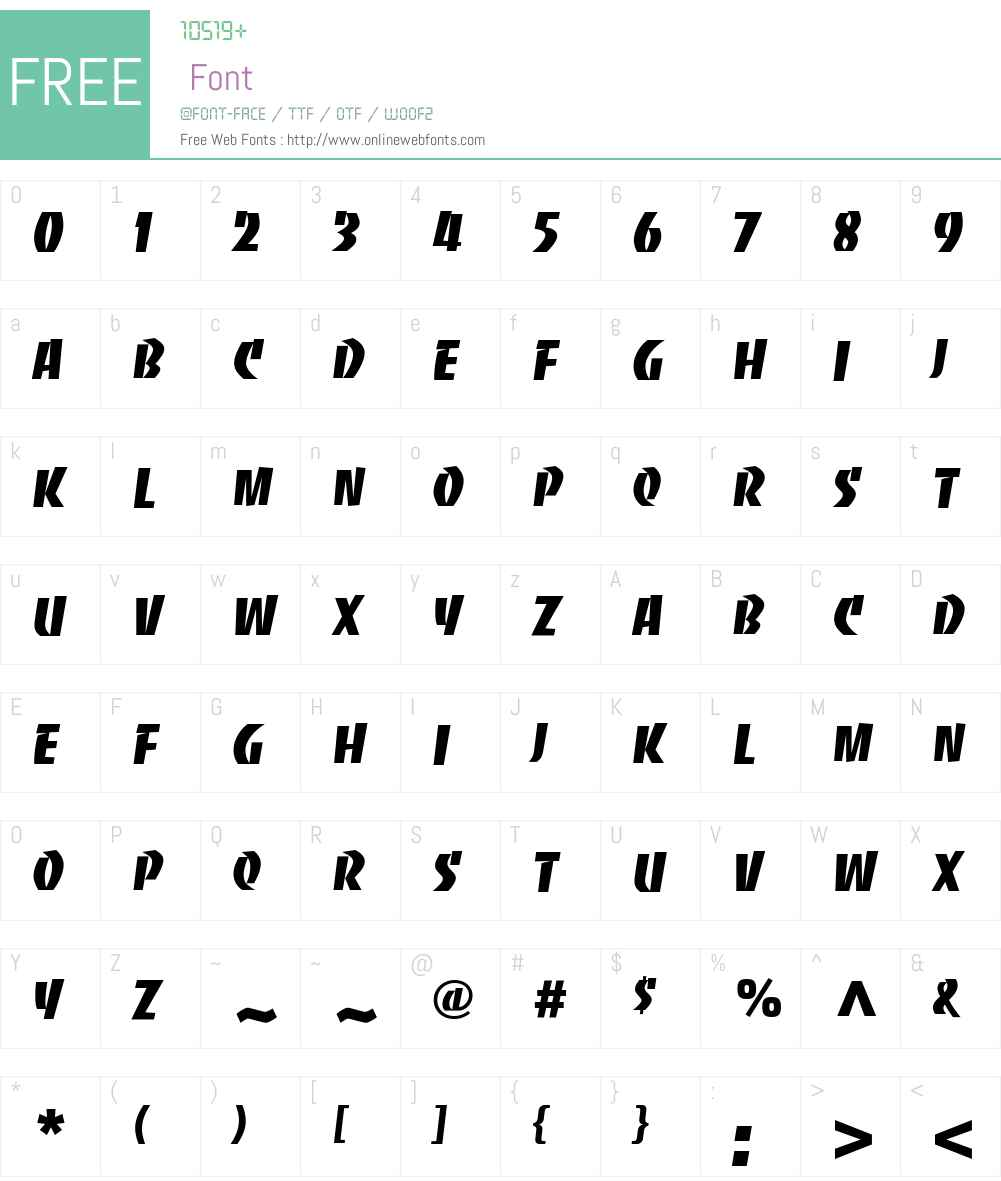 BancoCom Font Screenshots