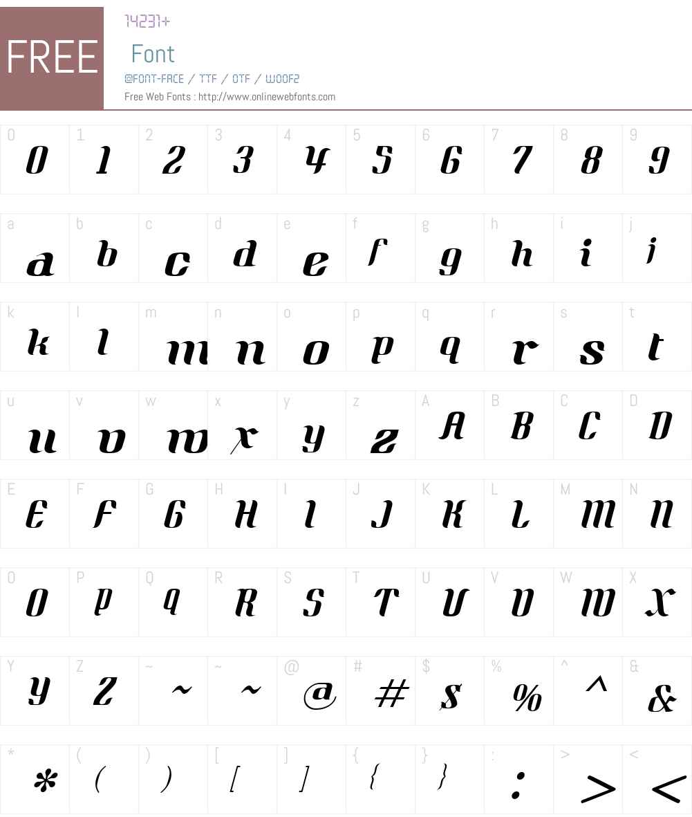Quidic Font Screenshots