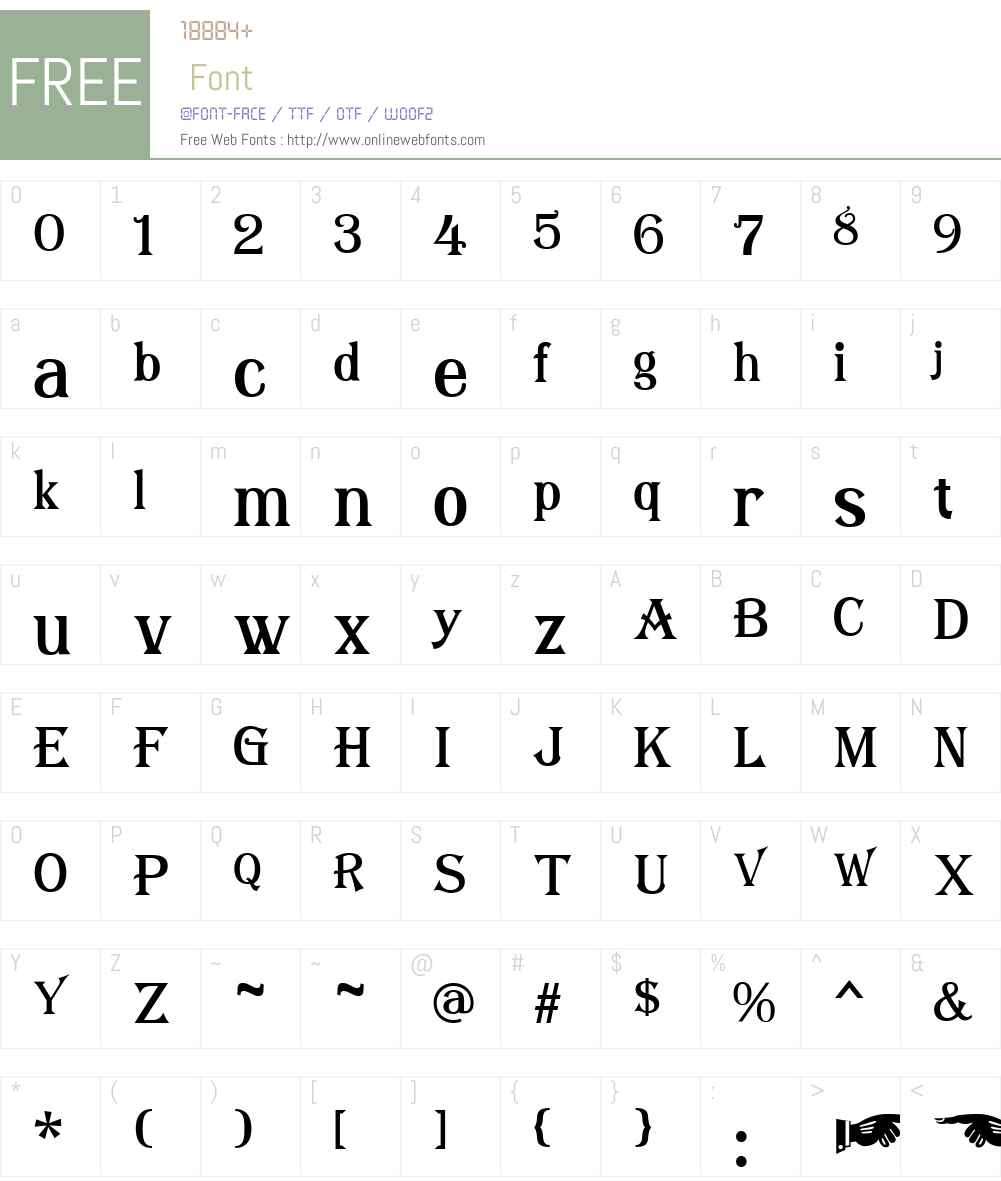 AlgerianMesaPlainW00-Rg Font Screenshots