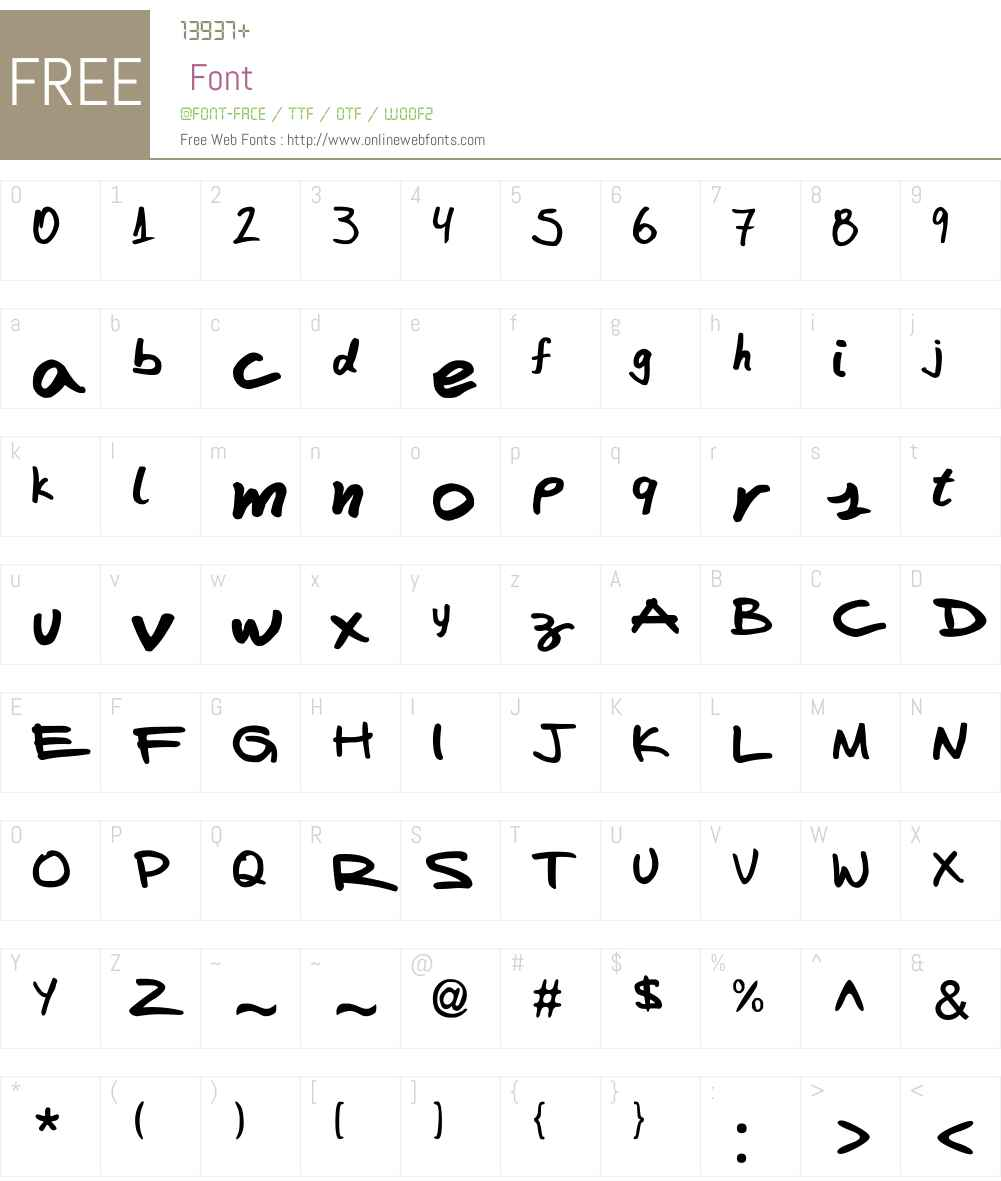 FAFERS Handwriting Font Font Screenshots