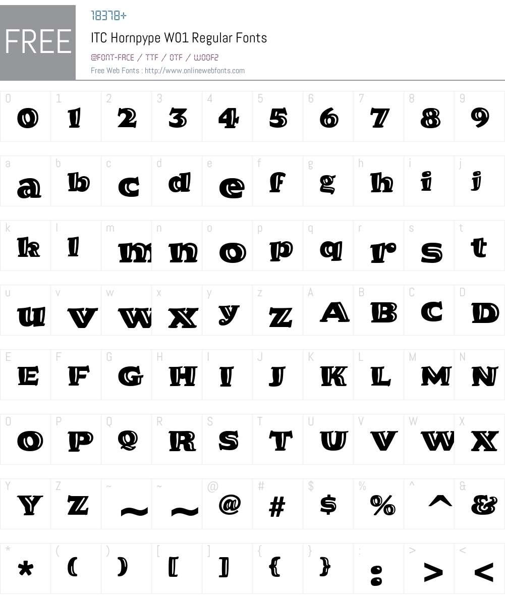 ITCHornpypeW01-Regular Font Screenshots