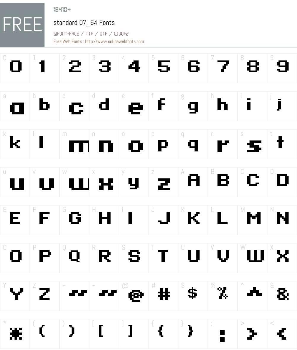 standard 07_64 Font Screenshots