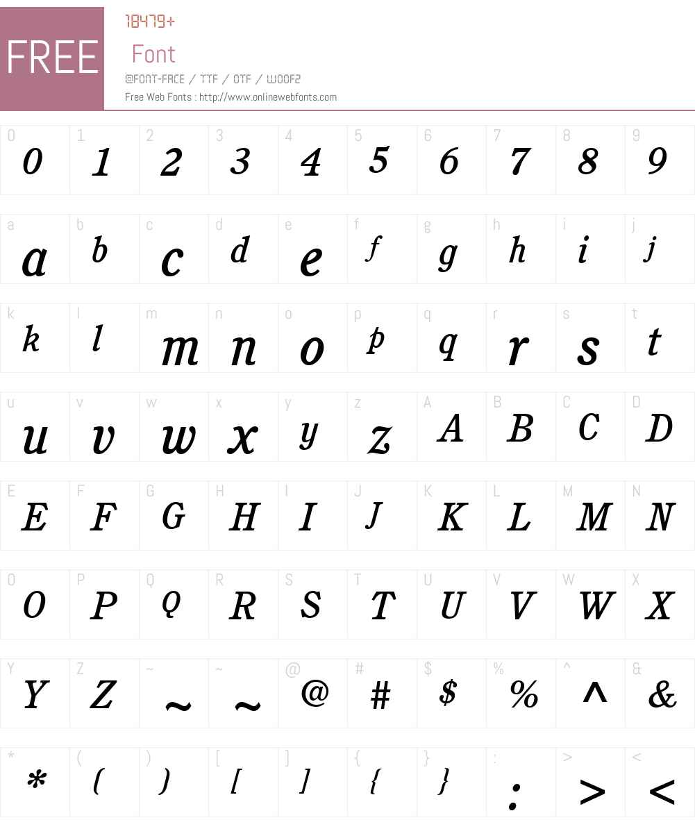 ITCCushingW01-MediumItalic Font Screenshots