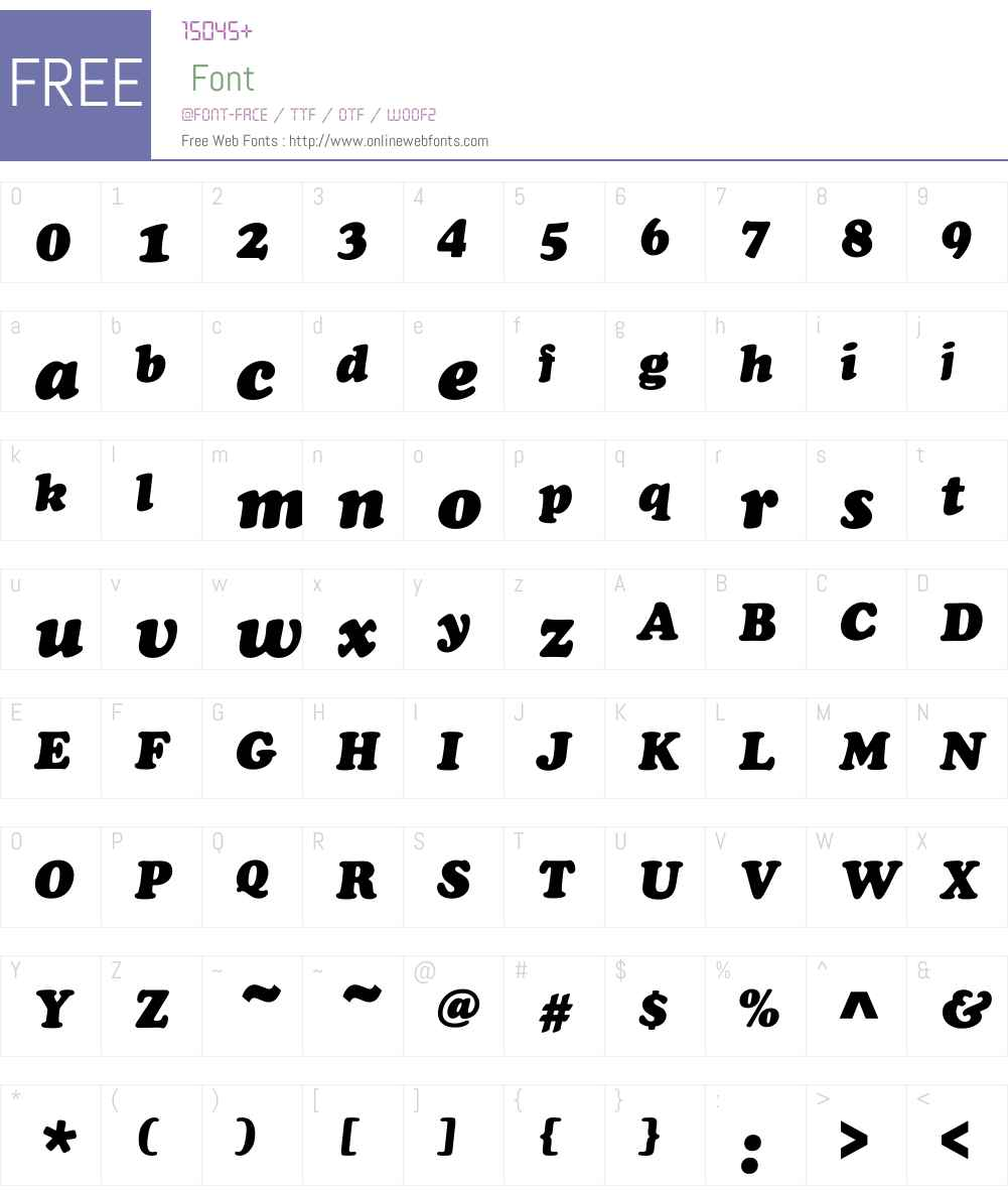 CooperBlaDOTW01-Italic Font Screenshots
