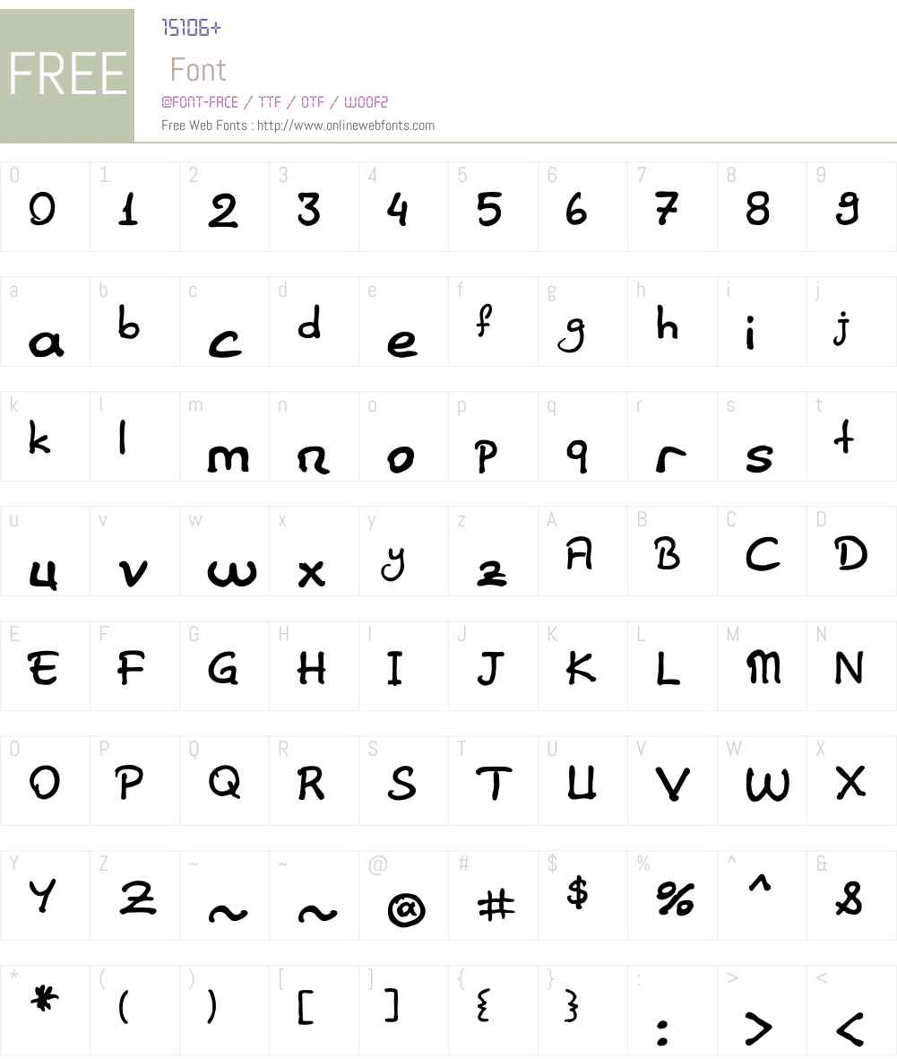 Elif Sans Herif Font Screenshots