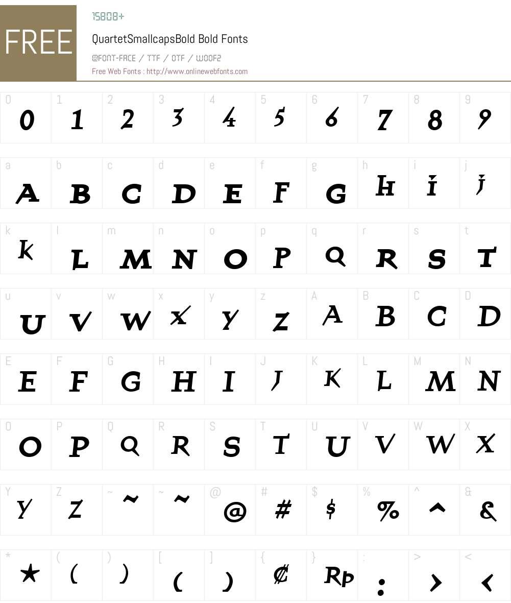 QuartetSmallcapsBold Font Screenshots