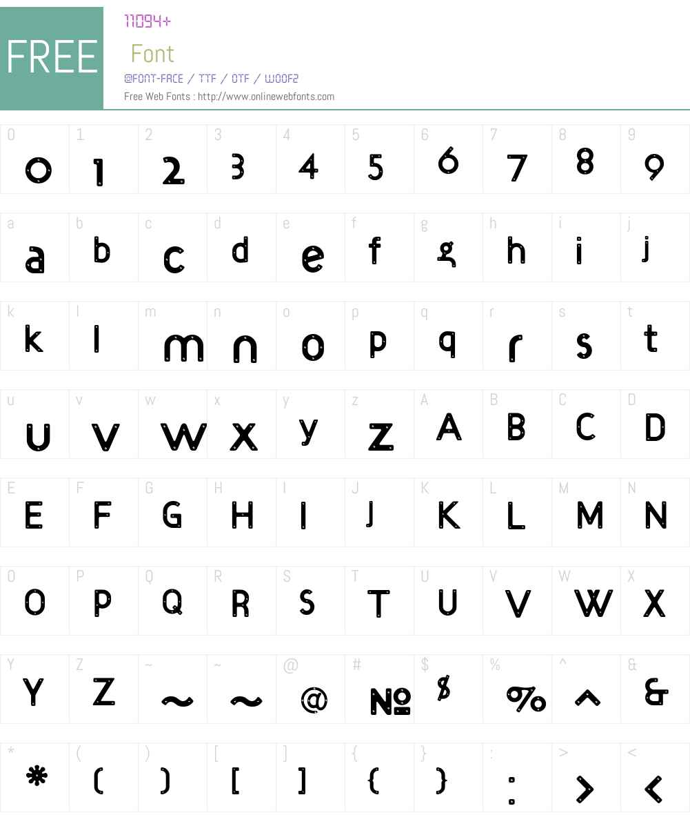 Target Font Screenshots