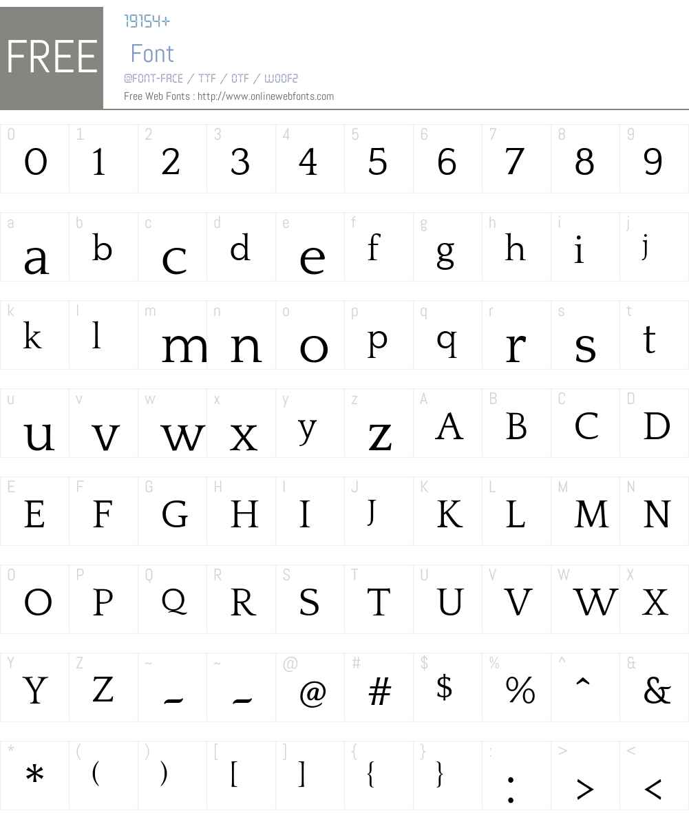 Quattrocento Font Screenshots