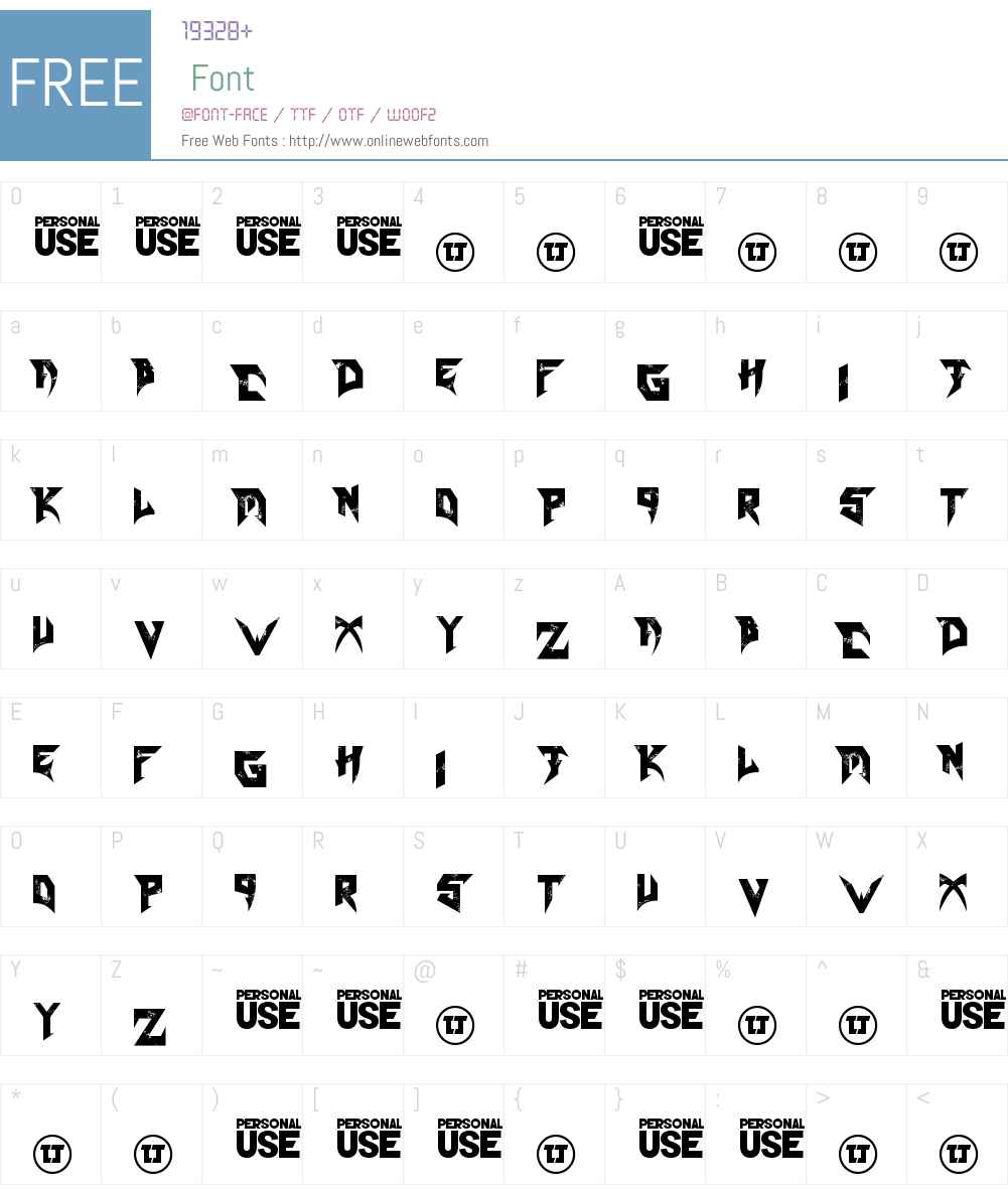 Blade Font Screenshots