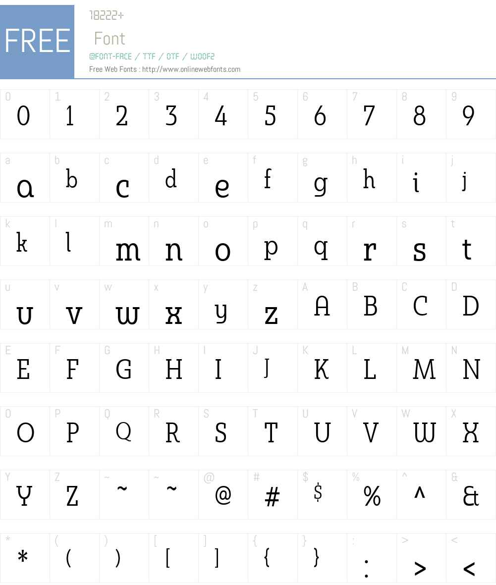 MaduraiSlabW01-CndRegular Font Screenshots